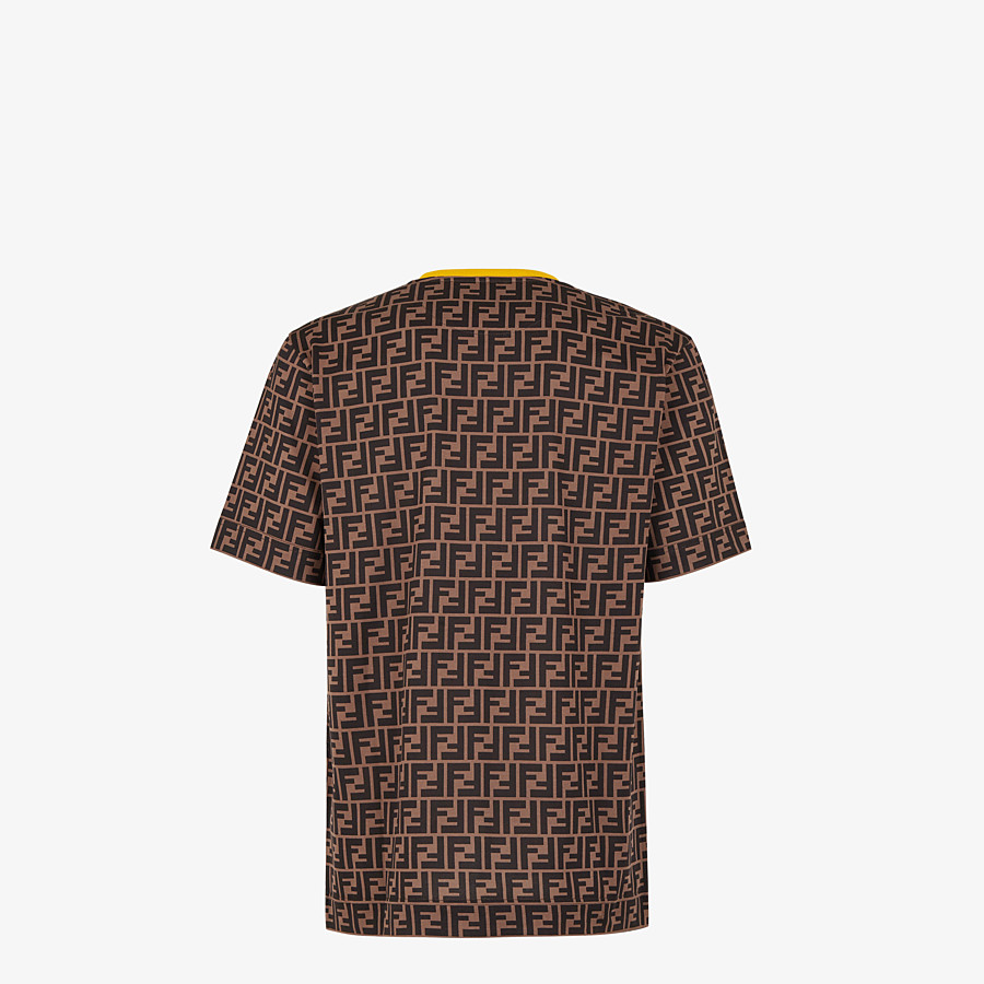 FENDI T-SHIRT - Brown cotton T-shirt - view 2 detail