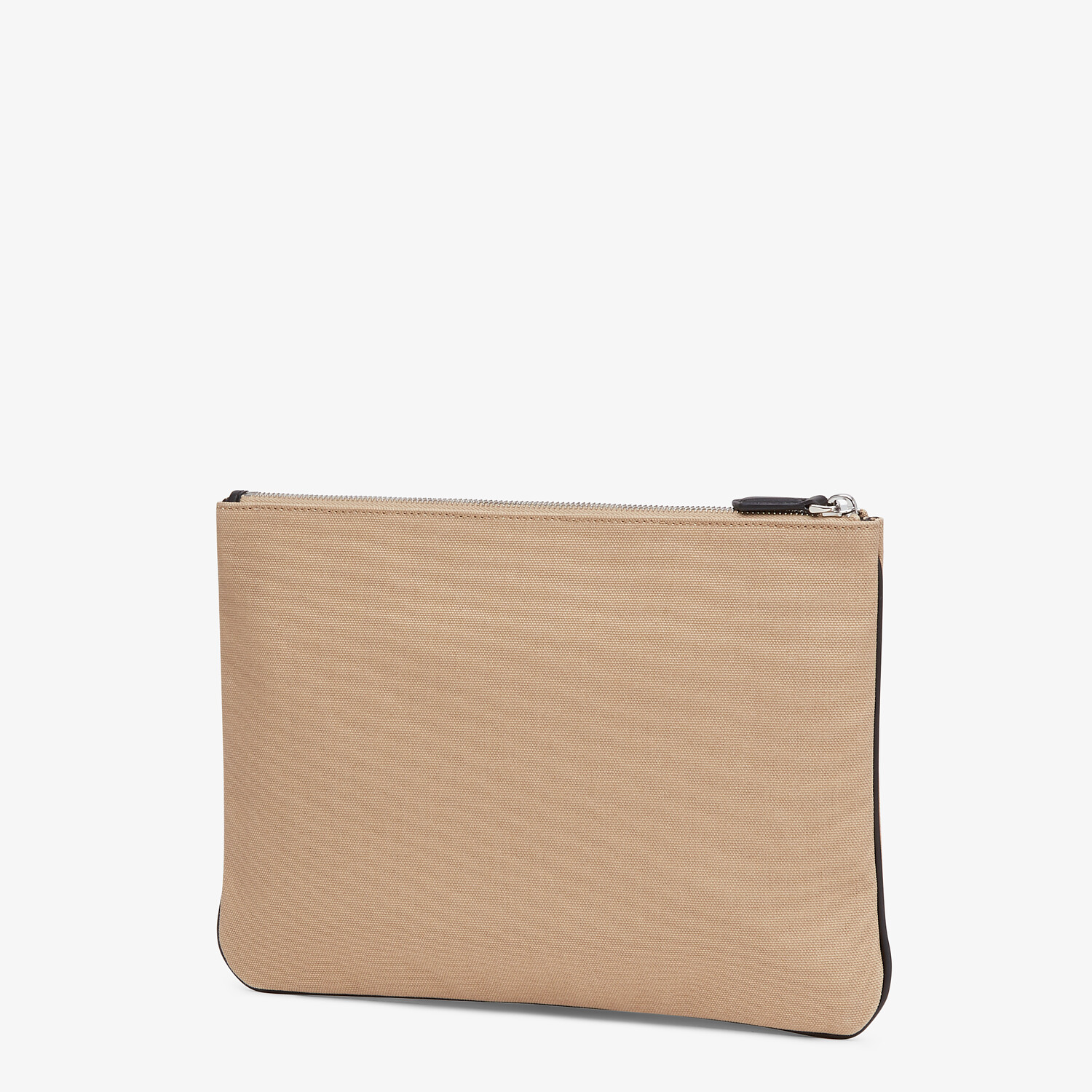 FENDI POUCH - Beige canvas pouch - view 2 detail