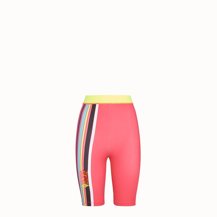 FENDI TROUSERS - Fendi Roma Amor stretch fabric bike shorts - view 1 detail