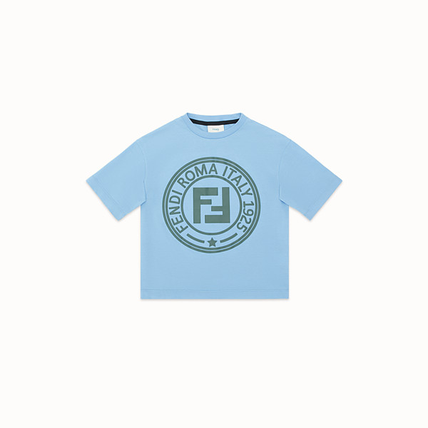 FENDI T-SHIRT - Ceramic colour jersey T-shirt - view 1 small thumbnail