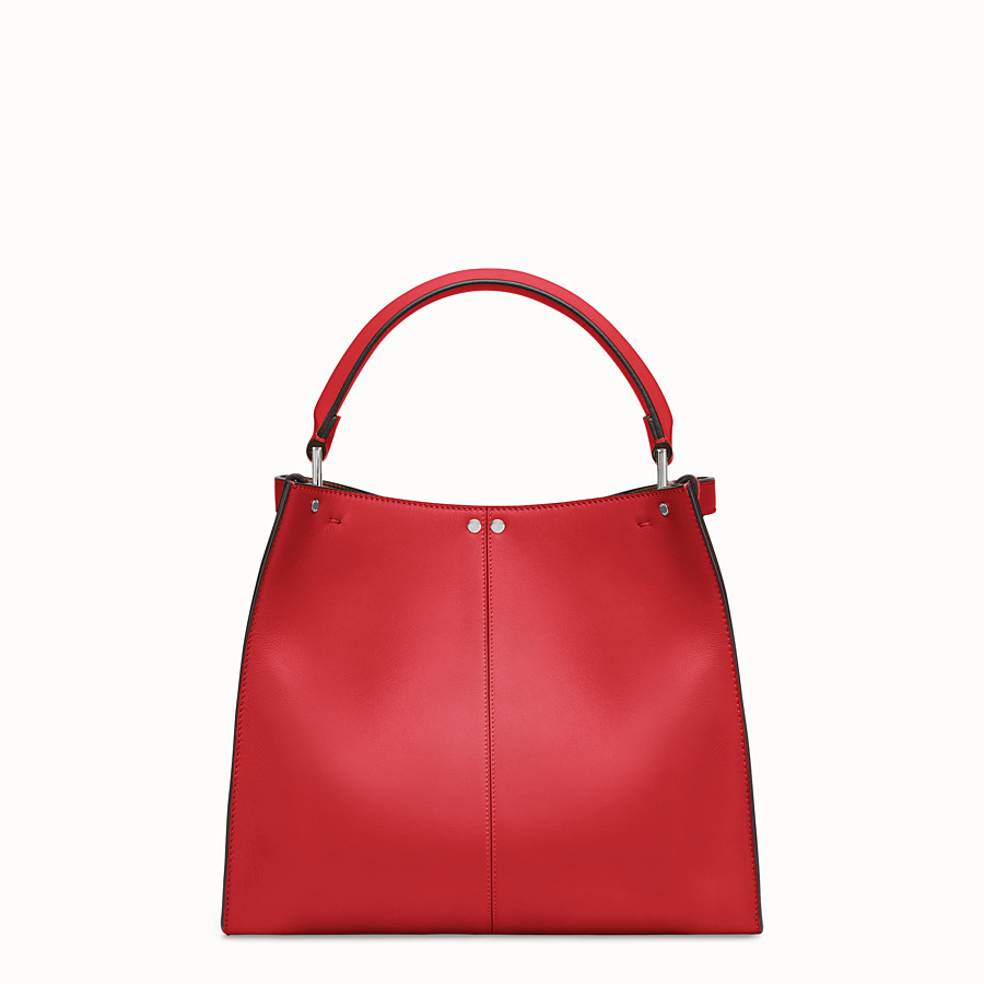 FENDI PEEKABOO X-LITE REGULAR - Red leather bag - view 4 detail