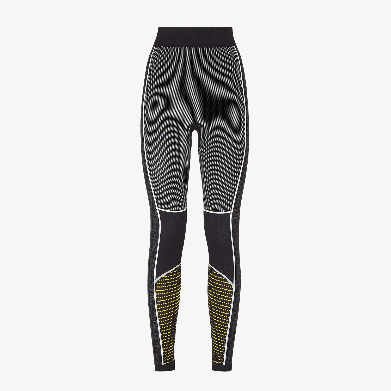 FENDI LEGGINGS - Leggings in nylon nero - vista 1 dettaglio