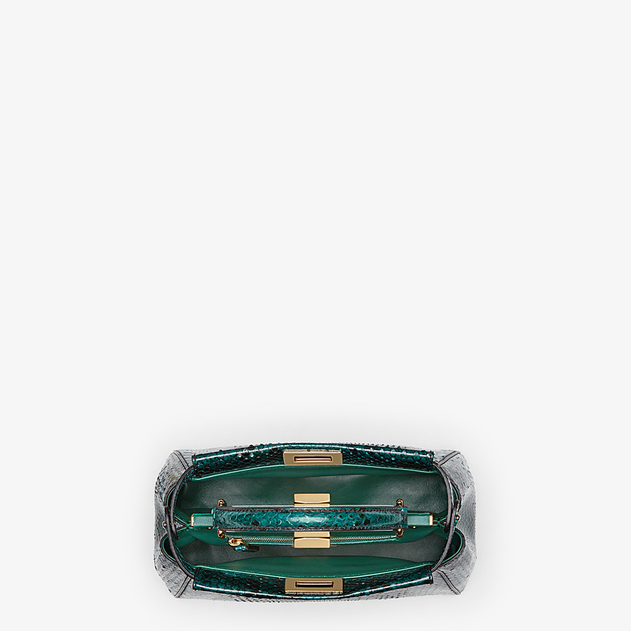 FENDI PEEKABOO ICONIC MINI - Green python bag - view 4 detail