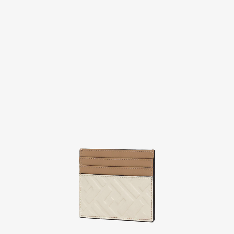 FENDI CARD HOLDER - White leather card holder - view 2 detail