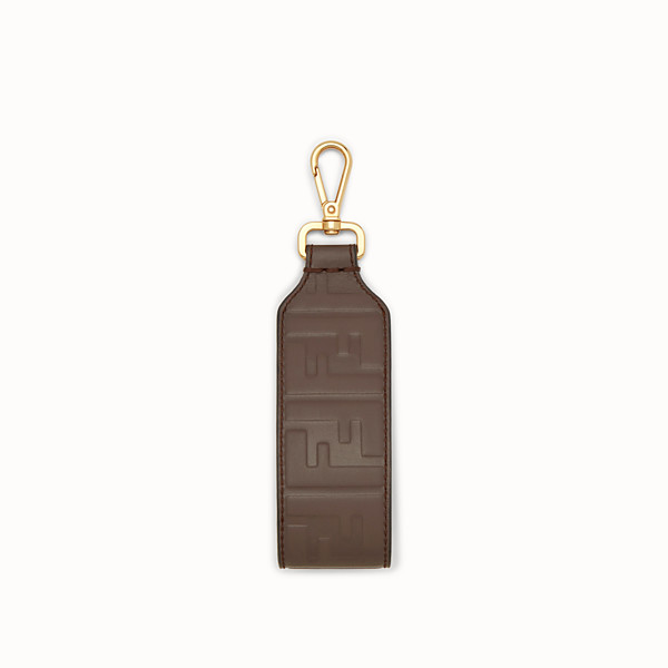 FENDI KEYRING - Brown leather key ring - view 1 small thumbnail
