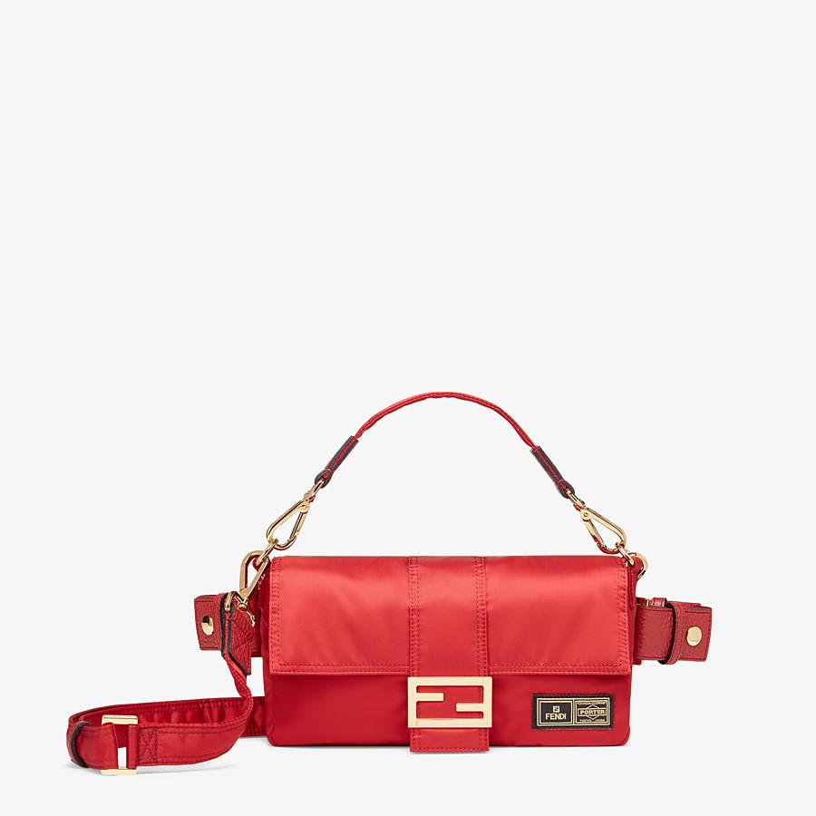 FENDI BAGUETTE FENDI AND PORTER - Red nylon bag - view 1 detail