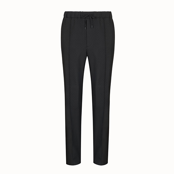 FENDI PANTS - Black wool pants - view 1 small thumbnail