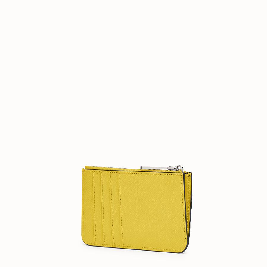 FENDI KEY CASE POUCH - Yellow leather pouch - view 2 detail