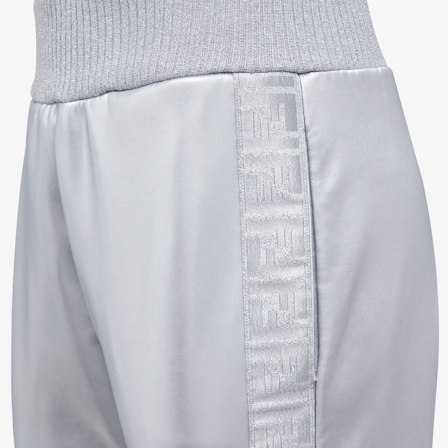 FENDI pants - Silver tech fabric jogging pants - view 3 detail