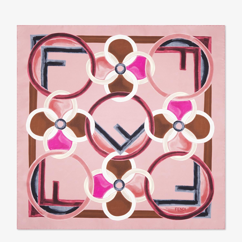 FENDI FOULARD F IS FENDI - Foulard in seta rosa - vista 1 dettaglio