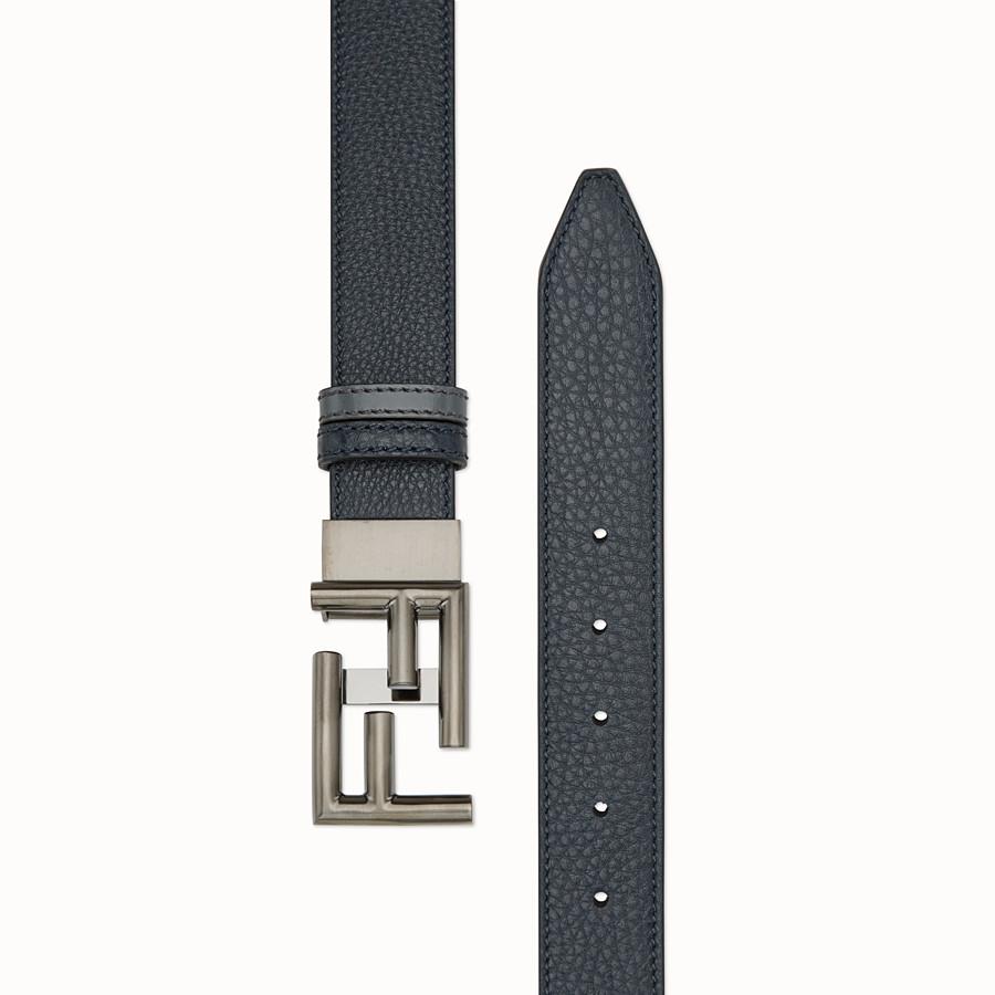 FENDI 皮帶 - 黑板藍色羅馬皮革和黑色皮革 - view 2 detail