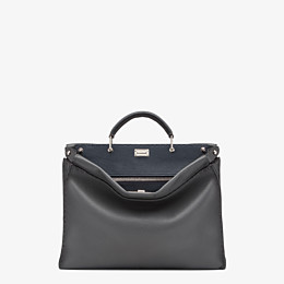 FENDI PEEKABOO ICONIC FIT - Grey leather Selleria bag - view 1 thumbnail