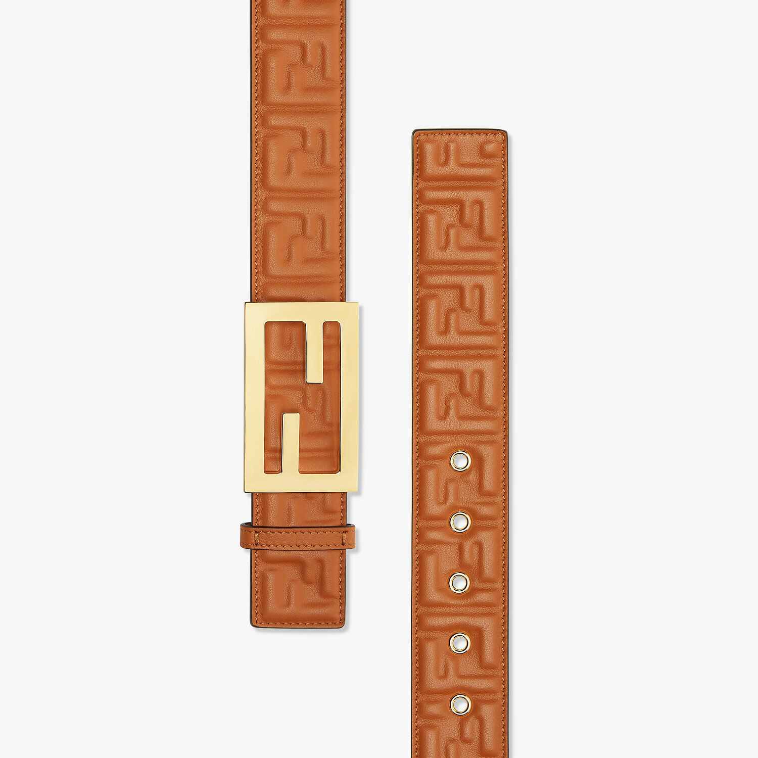 FENDI BELT - Brown leather belt - view 2 detail