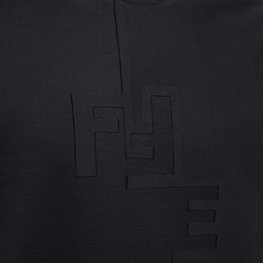 FENDI T-SHIRT - T-shirt in jersey nero - vista 3 dettaglio