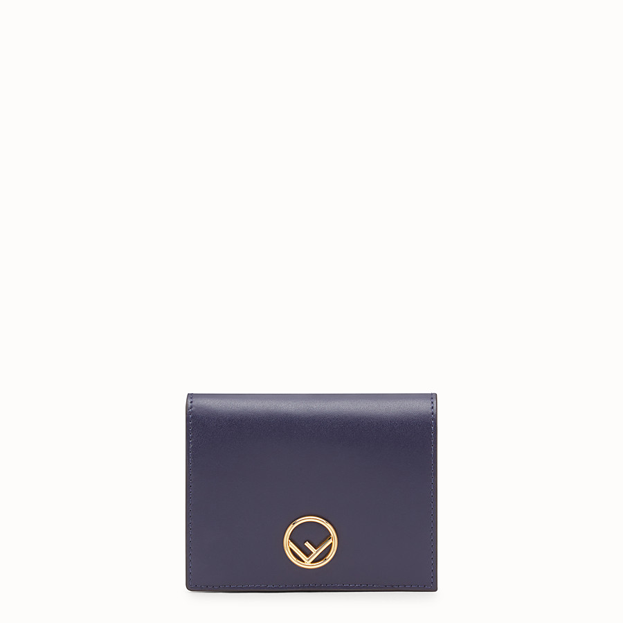 FENDI BIFOLD - Blue leather compact wallet - view 1 detail