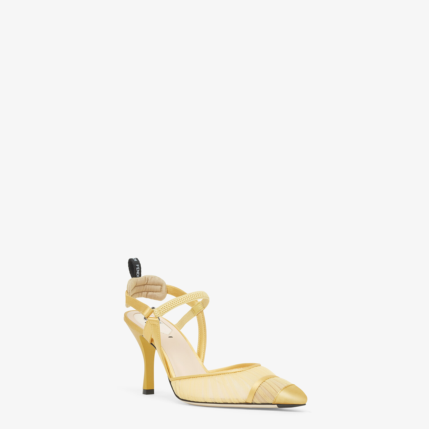 FENDI SLINGBACK - Yellow tulle and satin Colibrì - view 2 detail