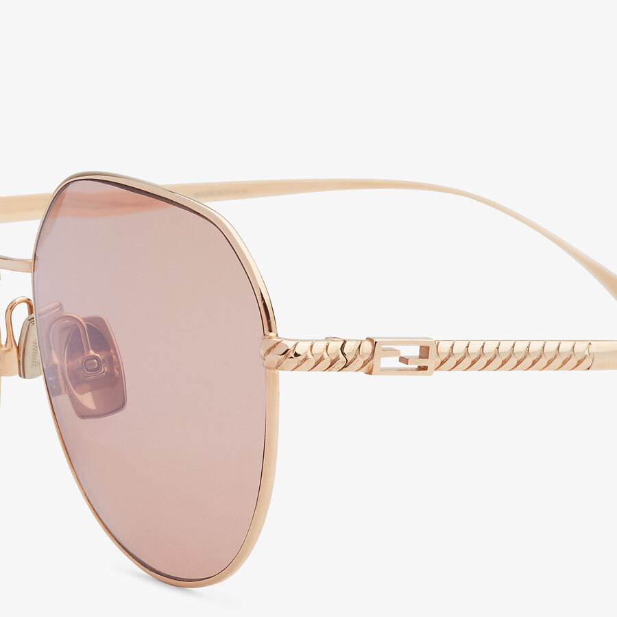FENDI BAGUETTE - Rose-gold-colored sunglasses - view 3 detail