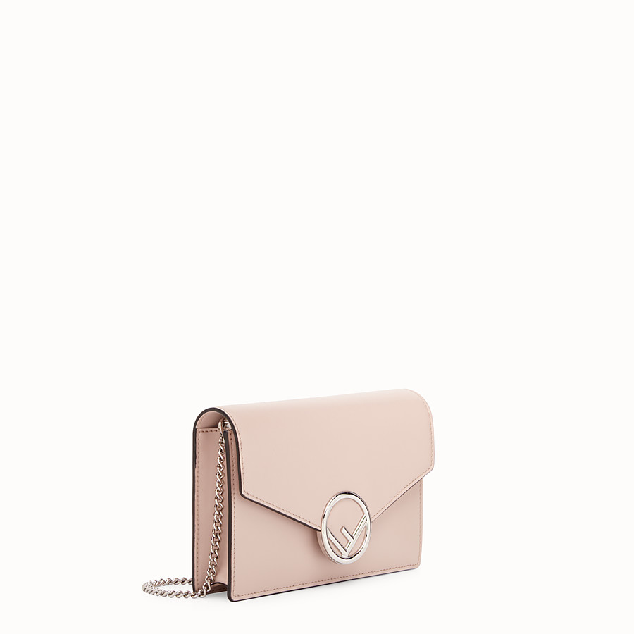 FENDI WALLET ON CHAIN - Pink leather minibag - view 2 detail
