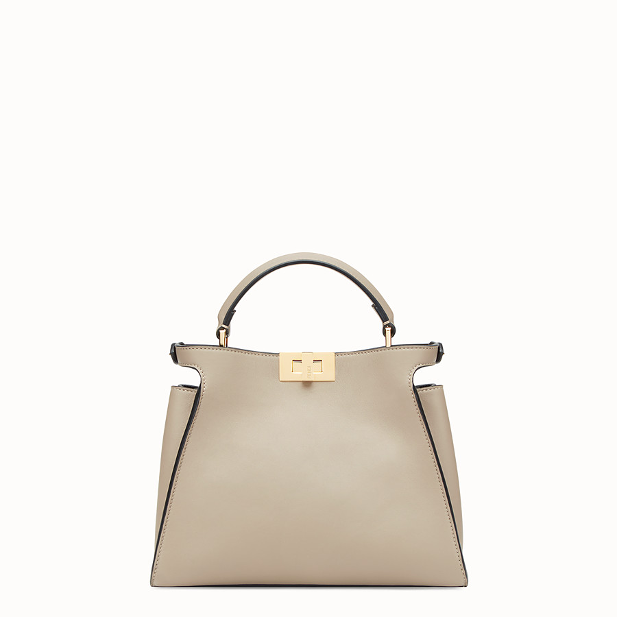 FENDI PEEKABOO ESSENTIALLY - Beige leather bag - view 3 detail