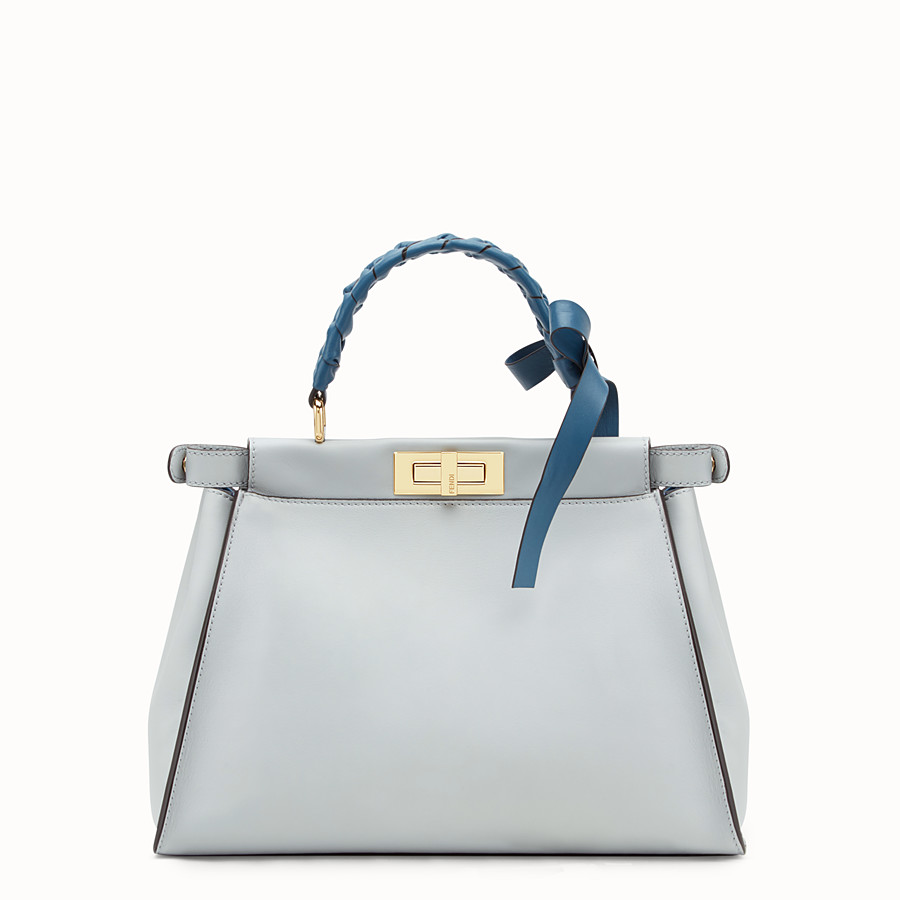 FENDI PEEKABOO REGULAR - Sac en cuir gris - view 3 detail