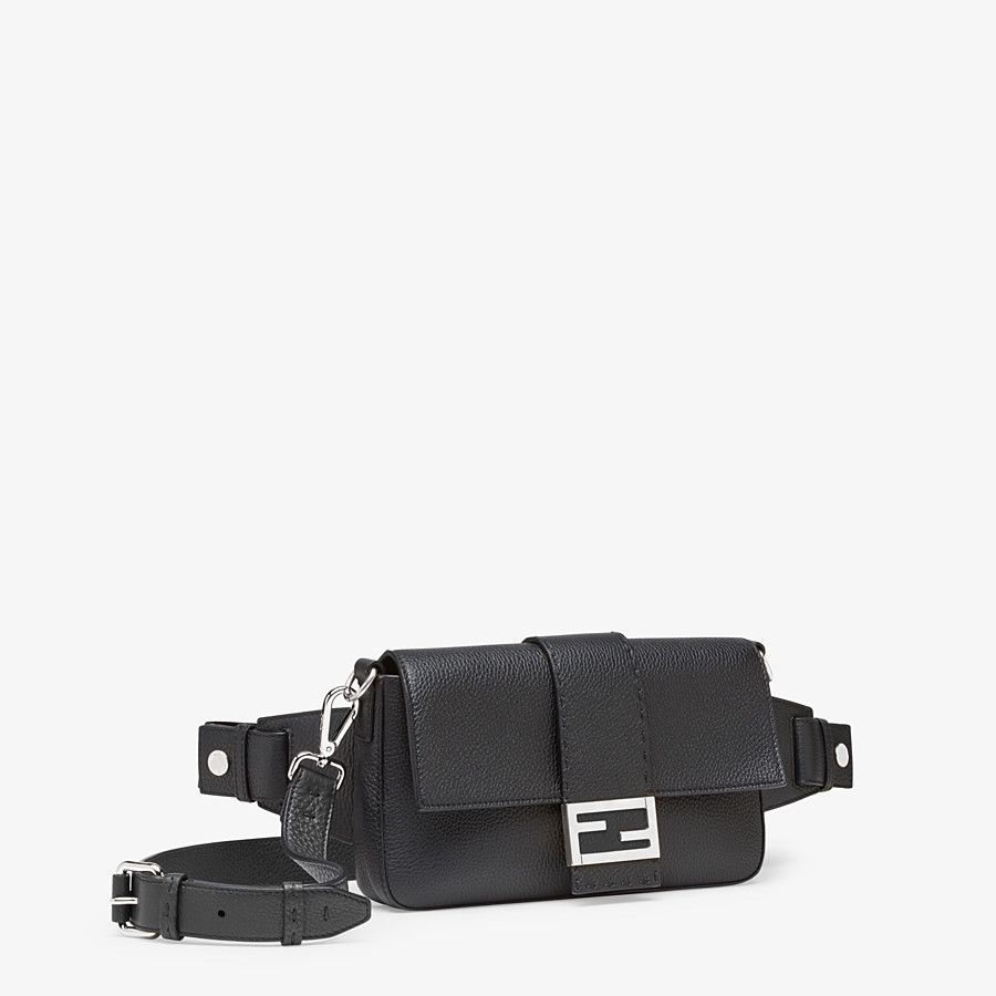 FENDI BAGUETTE - Black calf leather bag - view 2 detail