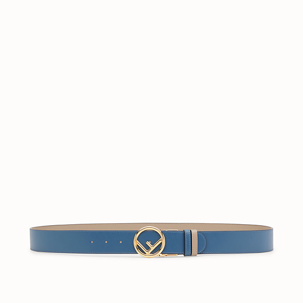 FENDI BELT - Beige and blue leather belt - view 1 small thumbnail