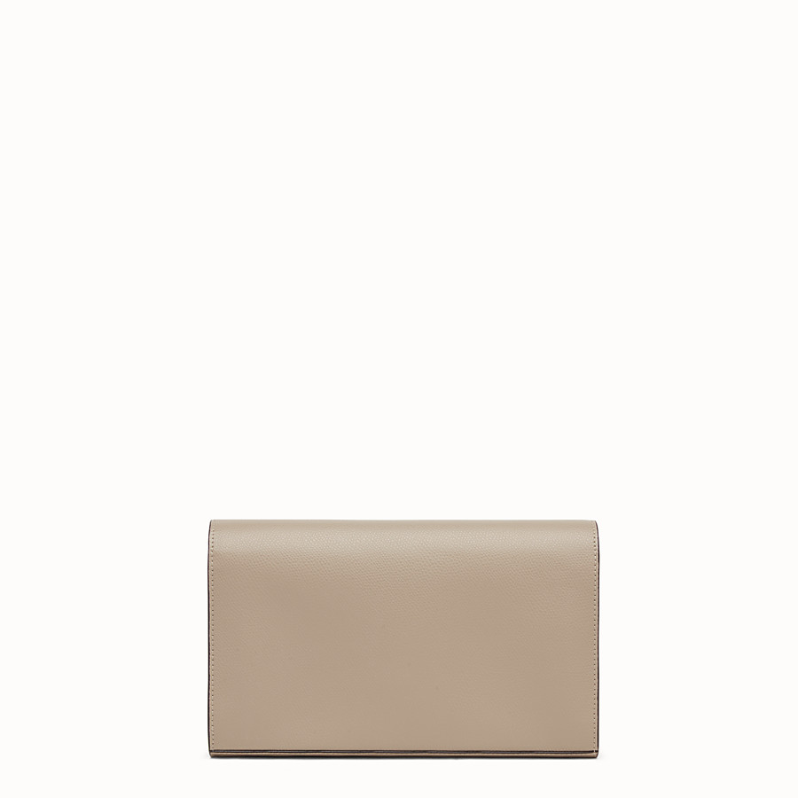 FENDI WALLET ON CHAIN - Beige leather mini-bag - view 3 detail