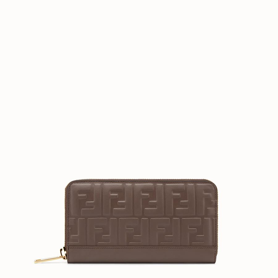 FENDI ZIP-AROUND - Brown leather wallet - view 1 detail