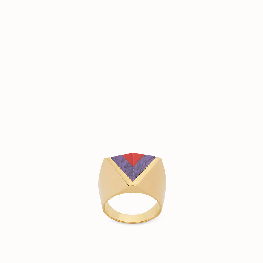 FENDI RAINBOW RING - Rainbow-Ring aus Metall und Stein - view 1 detail