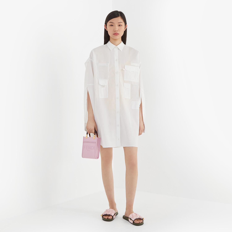 FENDI ドレス - ホワイトポプリン ドレス - view 4 detail