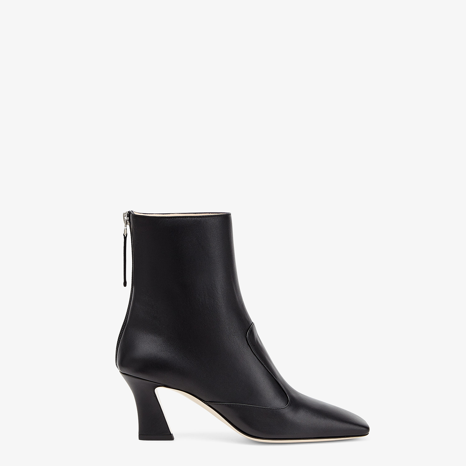 FENDI ANKLE BOOTS - Booties in black leather - view 1 detail