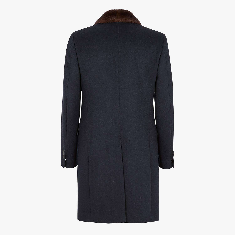FENDI COAT - Blue wool and cashmere coat - view 2 detail