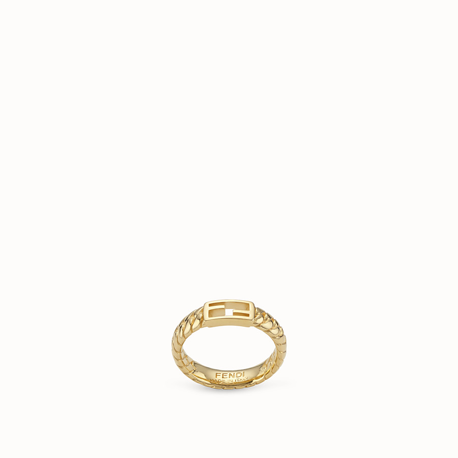 FENDI BAGUETTE RING MEDIUM  - Gold-colour ring - view 1 detail