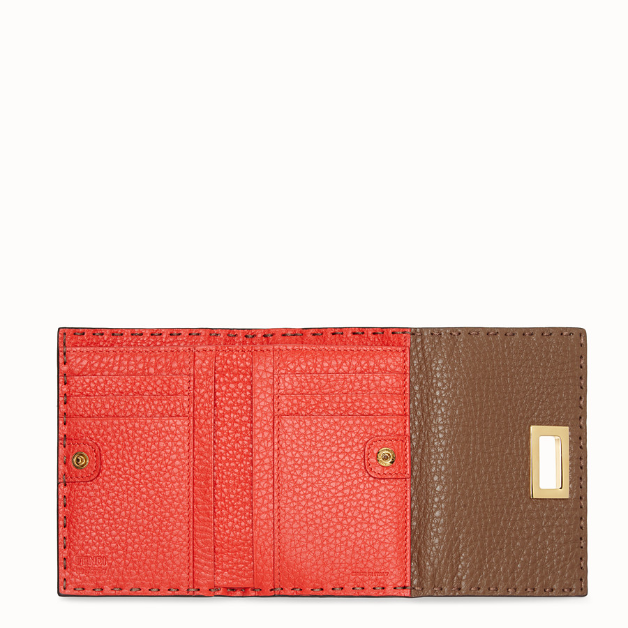 FENDI CONTINENTAL MEDIUM - Brown leather wallet - view 4 detail