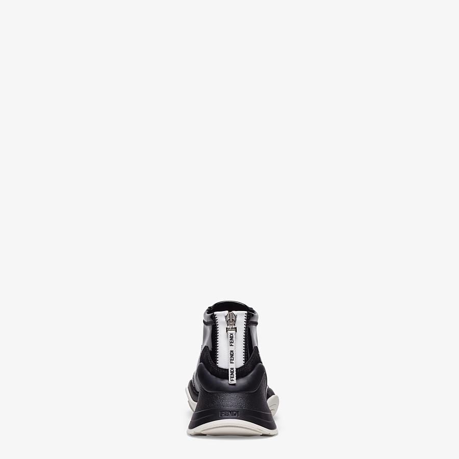 FENDI SNEAKERS - Sneakers in glossy black neoprene - view 3 detail