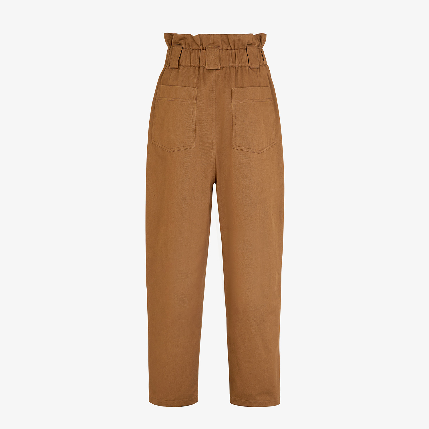 FENDI TROUSERS - Brown gabardine trousers - view 2 detail