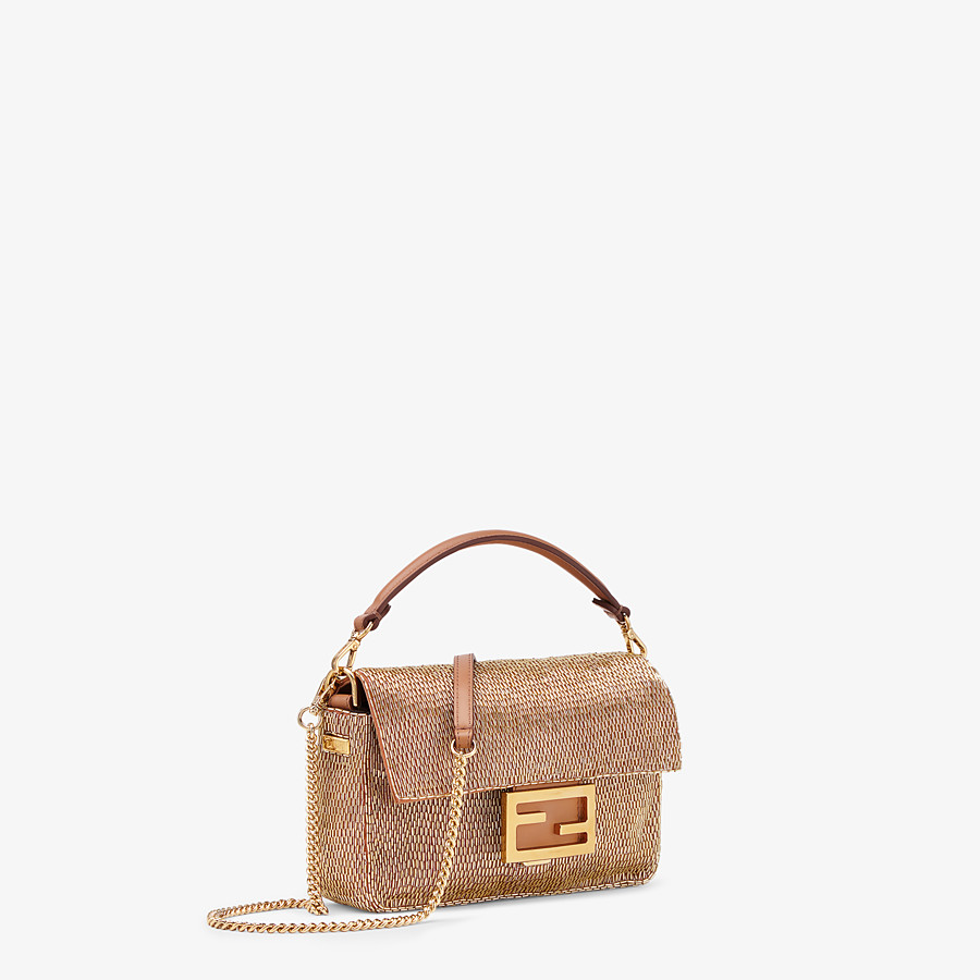 FENDI BAGUETTE - Brown leather bag - view 3 detail