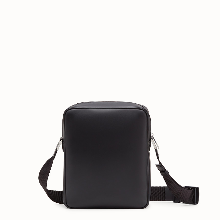 FENDI MESSENGER - Black leather cross-body bag - view 3 detail
