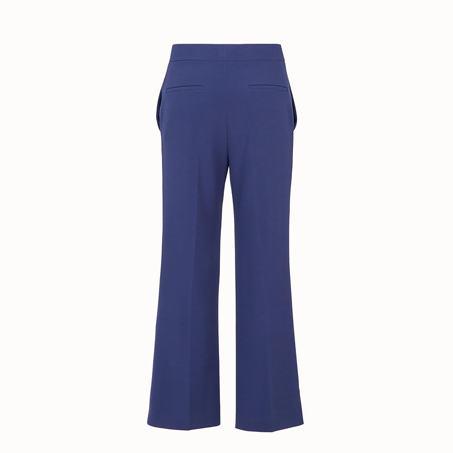 FENDI TROUSERS - Blue fabric trousers - view 2 detail