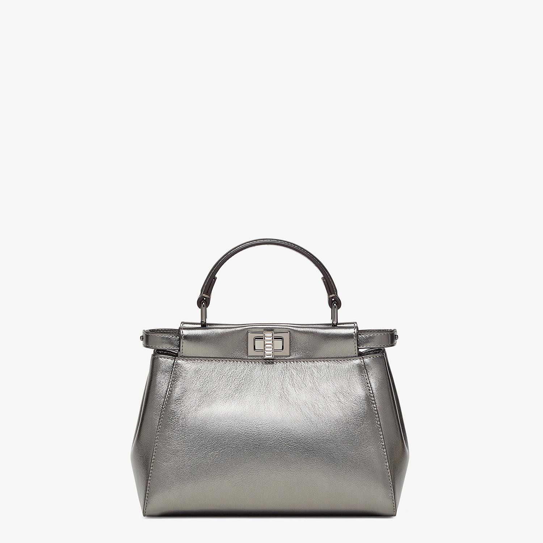 FENDI PEEKABOO MINI - Graphite leather bag - view 1 detail