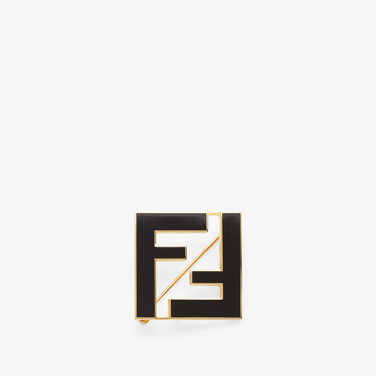 FENDI FF BROOCH - Black metal brooch - view 1 detail