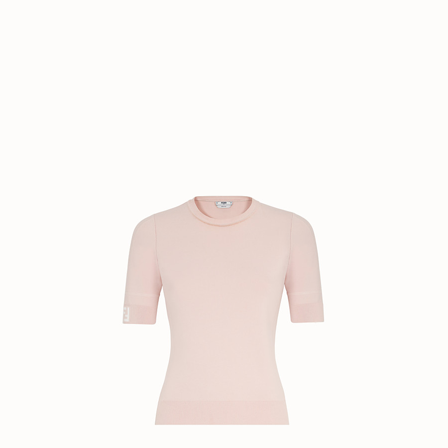 FENDI PULLOVER - Pink fabric jumper - view 1 detail