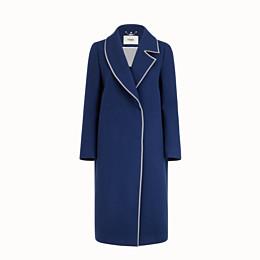 FENDI MANTEL - Mantel aus Wolle in Blau - view 4 thumbnail