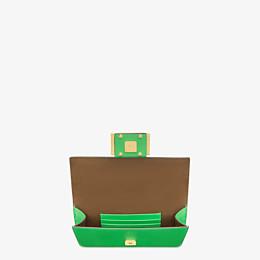 FENDI FLAT BAGUETTE - Green leather mini bag - view 5 thumbnail