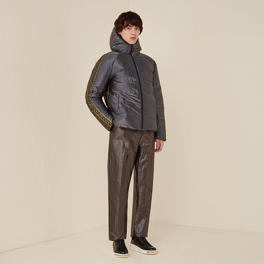 FENDI DOWN JACKET - Metallic tech fabric padded jacket - view 5 detail