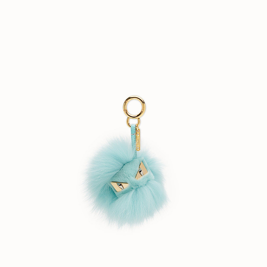 FENDI BAG BUGS CHARM - Pale blue fur charm - view 1 detail
