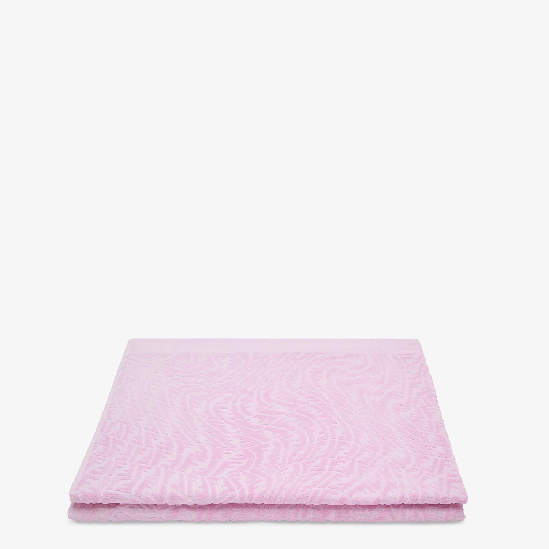 FENDI BEACH TOWEL - Pink fabric beach towel - view 2 detail