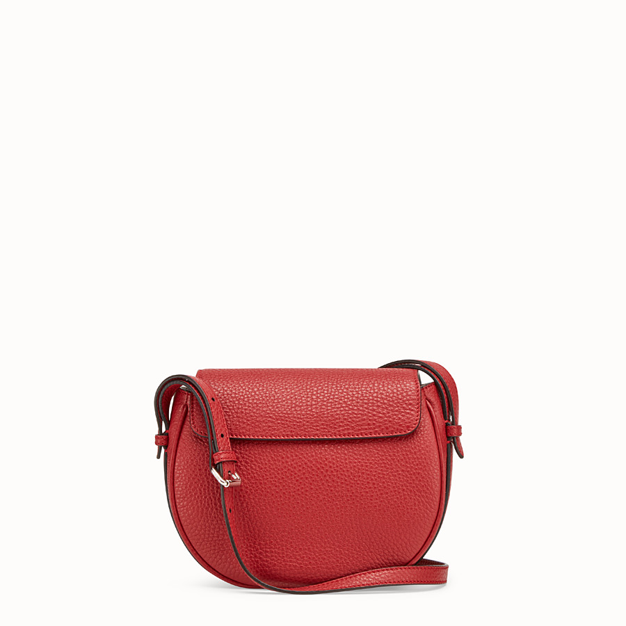 FENDI SHOULDER BAG - Red leather bag - view 3 detail