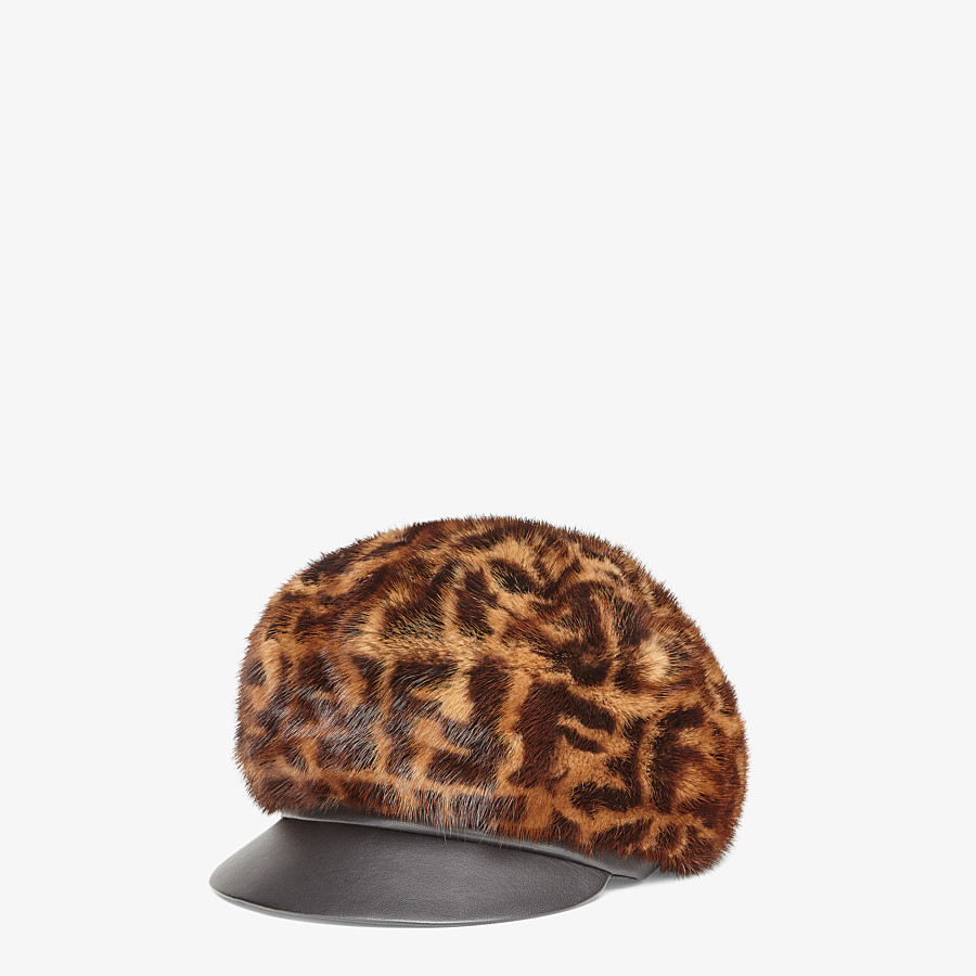 FENDI HAT - Brown mink hat - view 1 detail