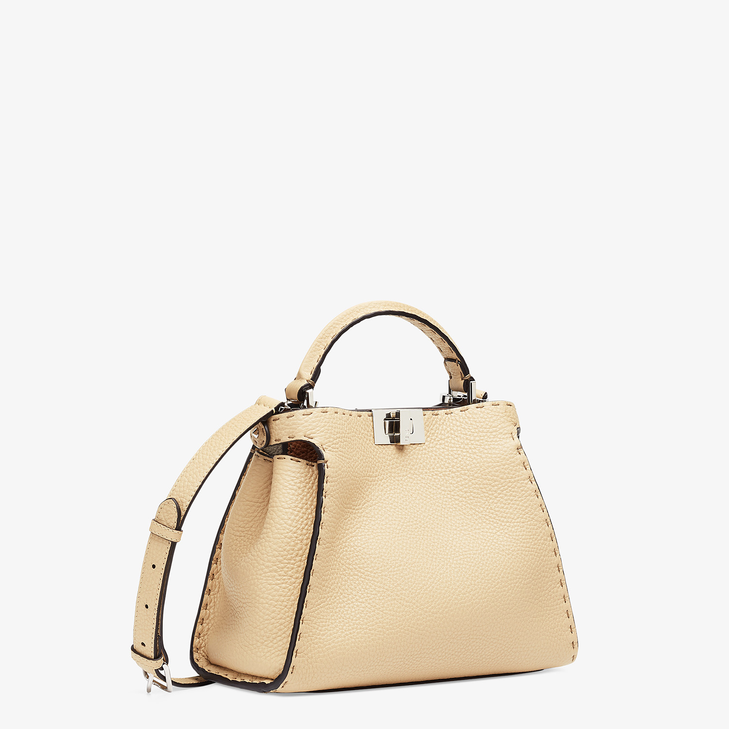 FENDI PEEKABOO ICONIC ESSENTIALLY - Beige Cuoio Romano leather bag - view 3 detail